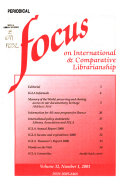 Focus on International Library and Information Work