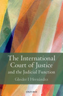 The International Court of Justice and the Judicial Function Pdf/ePub eBook
