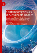 Contemporary Issues in Sustainable Finance