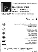 Proceedings of the     Intersociety Energy Conversion Engineering Conference