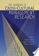 The Handbook Of Cross Cultural Management Research Book PDF