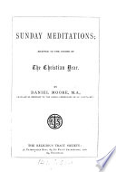 Sunday Meditations  Adapted to the Course of the Christian Year Book