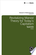 Revitalizing Marxist Theory for Today's Capitalism Pdf/ePub eBook