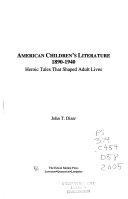 American Children s Literature  1890 1940