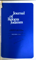 Journal of Reform Judaism
