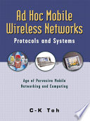 Ad Hoc Mobile Wireless Networks Book