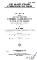 Energy and Water Development Appropriations for Fiscal Year 1995