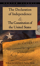 The Declaration of Independence and the Constitution of the United States Book