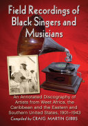 Pdf Field Recordings of Black Singers and Musicians Telecharger