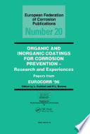 Organic and Inorganic Coatings for Corrosion Prevention Book
