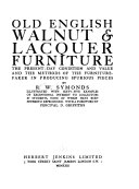 Old English Walnut & Lacquer Furniture