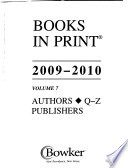 Books in Print 2009-2010