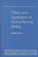 Theory and Applications of Optical Remote Sensing Book