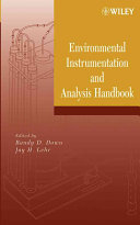 Environmental Instrumentation And Analysis Handbook Book PDF