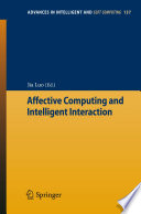 Affective Computing And Intelligent Interaction Book PDF