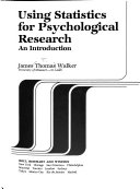 Using Statistics for Psychological Research
