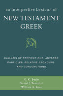 An Interpretive Lexicon of New Testament Greek