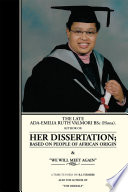 The Late Ada-Emilia Ruth Valmori Bsc.Hons. Her Dissertation