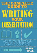 The Complete Guide To Writing Your Dissertation [Pdf/ePub] eBook