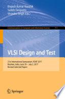 VLSI Design and Test Book