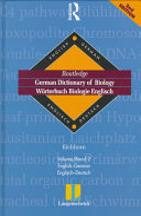 Langenscheidt Routledge German Dictionary of Biology  English German  Englisch Deutsch