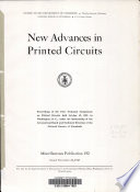 New Advances in Printed Circuits