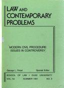 Modern Civil Procedure Book