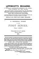 A General Index to the First Series  of Lippincott s Magazine  1868 80   vols  1 26