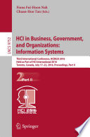 HCI in Business  Government  and Organizations  Information Systems