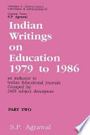 Indian Writings on Education, 1979-1986