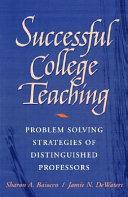Successful College Teaching