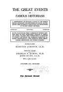 The Great Events by Famous Historians: A.D. 1903-1909