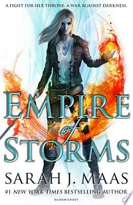 Book cover of 'Empire of Storms' by Sarah J. Maas