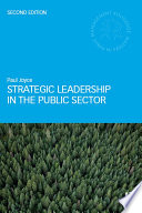 Strategic Leadership In The Public Sector Book PDF