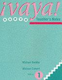 Vaya  Stage 1 Teachers Resource Book