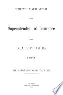Annual Report Of The Superintendent Of Insurance State Of Ohio