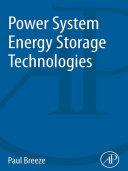 Power System Energy Storage Technologies Pdf/ePub eBook