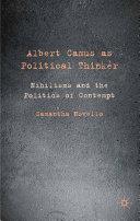 Albert Camus as Political Thinker Pdf/ePub eBook