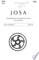 The Journal of the Oriental Society of Australia
