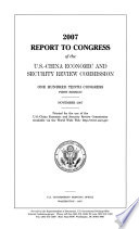 2007 Report to Congress of the U.S.-China Economic and Security Review Commission, November 2007, *