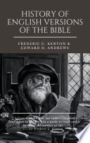 HISTORY OF ENGLISH VERSIONS OF THE BIBLE