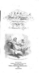 The Iliad of Homer  Translated by A  Pope  A new edition  Adorned with plates
