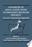 Handbook of Japan United States Environment Behavior Research