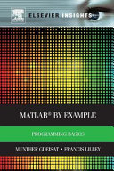 MATLAB(R) by Example: Programming Basics