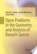 Open Problems in the Geometry and Analysis of Banach Spaces Book