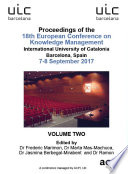 18th European Conference on Knowledge Management  ECKM 2017  Book