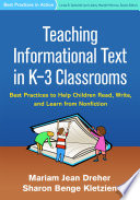 Teaching Informational Text In K 3 Classrooms
