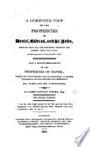 A Combined View Of The Prophecies Of Daniel Esdras And S John Second Edition