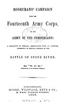 Rosecrans  Campaign with the Fourteenth Army Corps  Or  the Army of the Cumberland