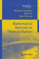 Mathematical Methods for Financial Markets Pdf/ePub eBook